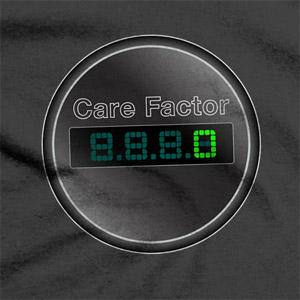 Care Factor  Zero T-Shirt by Matt Simner