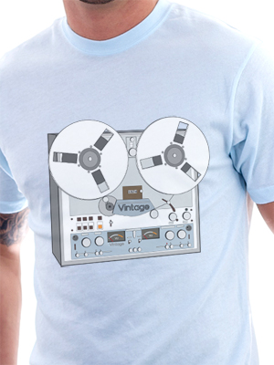 Reel Vintage Tape Deck T-Shirt by Matt Simner